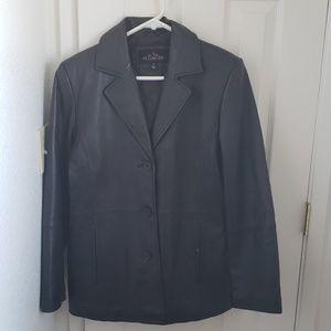 Women's FS Limited black leather jacket